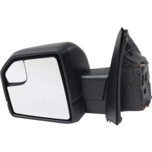 Kool Vue Mirror Compatible with Ford F-150 2015-2018 Driver Side Manual Non-Towing Manual Folding Non-Heated with Blind Spot Glass All Cab Types Textured Black