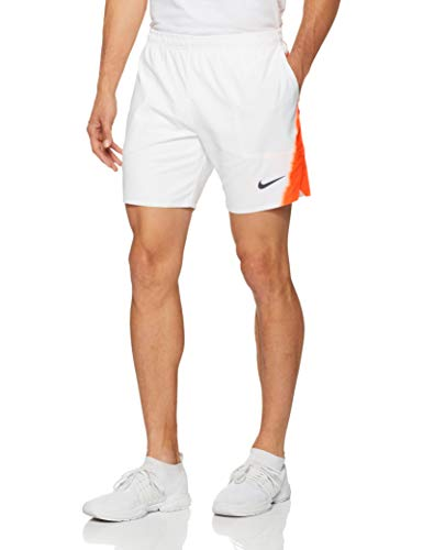 Nike Herren Rafa Flex Ace 7 NY Shorts, White/Hyper Crimson/Gridiron, XL