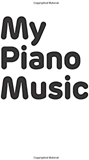 Blank Sheet Piano Music Notebook for Kids: 100 large pages (8.5 x 11in) of wide staff manuscript, perfect for learning piano