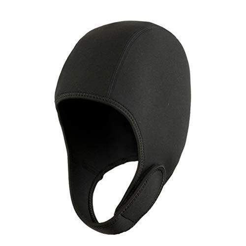 Cagoule néoprène pour Combinaison de plongée Bonnets Thermiques de Natation avec jugulaire réglable Hommes Femmes Gardent la tête au Chaud