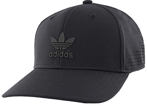 adidas Originals Men's Tech Mesh Structured Snapback Cap, Black/Black, ONE SIZE