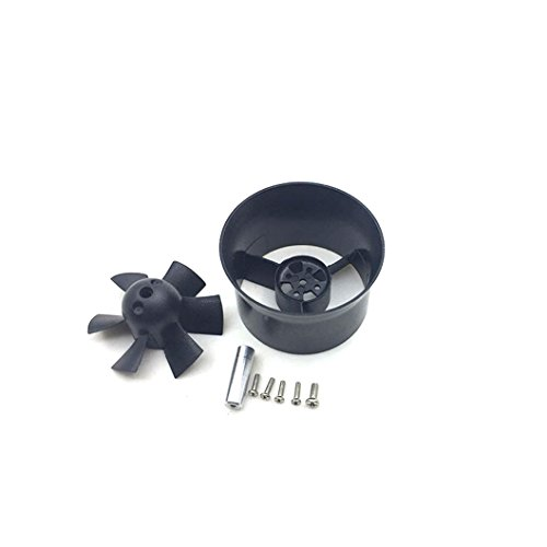 JFtech 30mm Duct Fan Unit 6-Blade Propeller for RC Airplane Model Mini Ducted Fan EDF Jet Aircraft