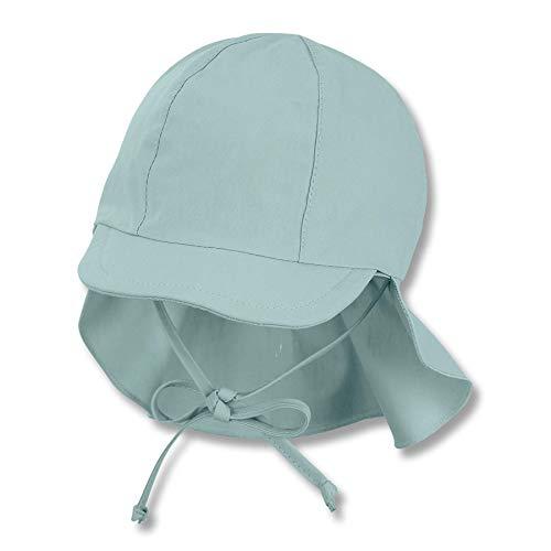 Sterntaler Unisex Baby Schirmmütze M. Nackenschutz 1512131 Winter Hut, Türkis, 49 EU