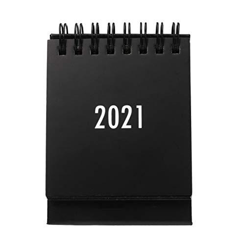 STOBOK 1 minicalendario 2020-2021 calendario de 18 meses (2020. 7-2021. 12) Calendario de mesa con calendario creativo para oficina escolar, color negro