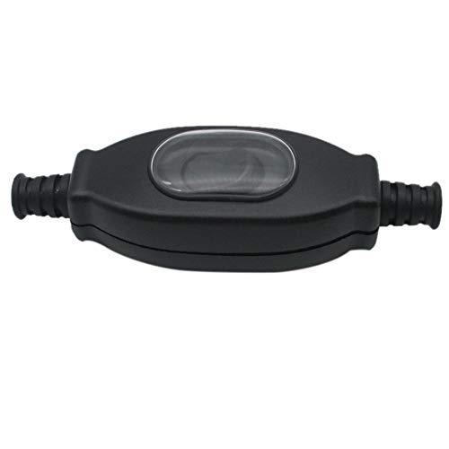 Beada Interruptor de red impermeable de 3 A, 250 V, 8 mm, IP65, redondo, contacto plateado, doble corte, interruptor de polvo