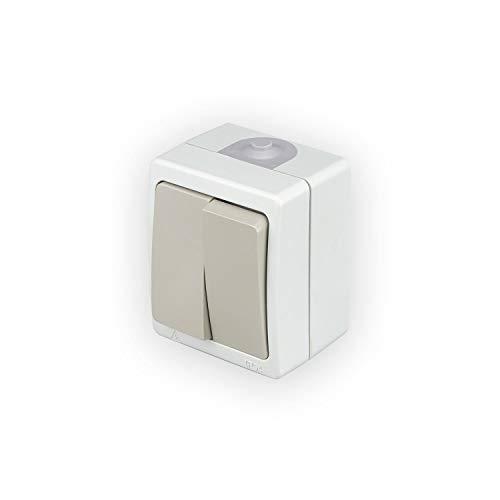 POPP Enchufe/Interruptor de (Doble) Superficie estanco (Interruptor doble, Pack 1)