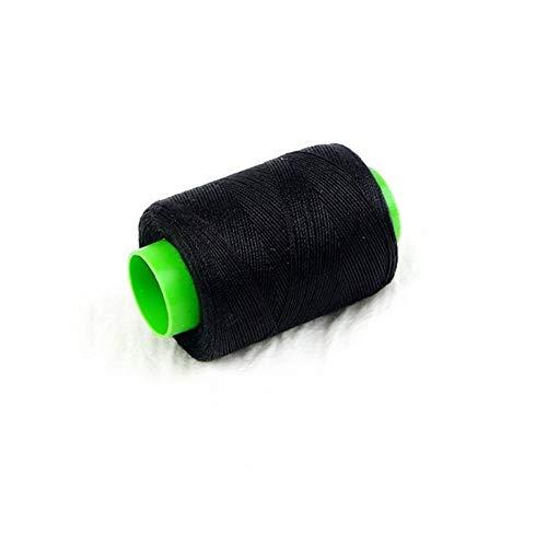 Victor Johnsond Nähgarn 1pc hohe Hartnäckigkeit Baumwolle Maschinensticken Nähgarn Hand Nähgarn Craft Patch-Lenkrad Zu nähmaschinengarn (Color : Black)