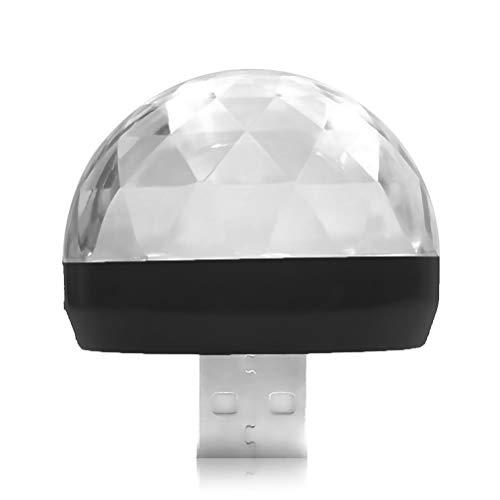 Laduup Mini Lampe de fête Portable USB avec contrôle du Son - Lumière intérieure Disco pour Noël, Enfants, Chambre d'enfant, fête, Maison