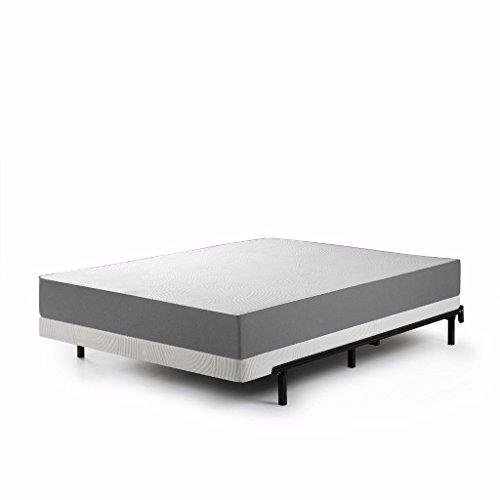 Zinus Jayanna 4 Inch BiFold Box Spring / Mattress Foundation / Zero Assembly / Sturdy Metal Structure / Low Profile, Queen
