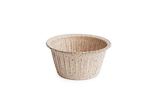 Ecopack, Stampi Monouso in Carta Naturale, Pirottini da Forno Biodegradabili, per Muffin, Cup Cake e Flan, Materiale Ecologico, Made in Italy, Resistenti Fino a 220°C, Dimensioni 5x4cm, 75 Pezzi