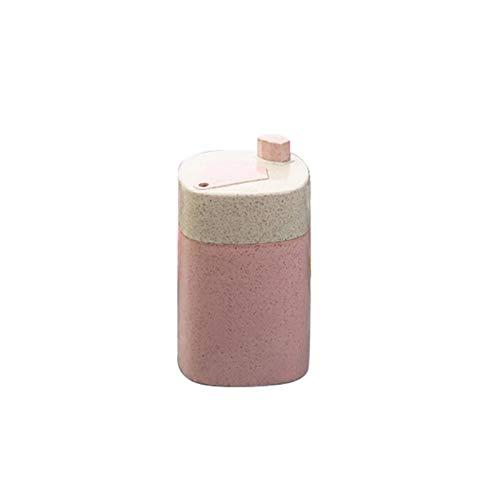 HUIHU Portátil Automático Palillo de Dientes Contenedor Caja de Almacenamiento de Palillos de Dientes Dispensador de Palillos de Dientes Doméstico-Rosa