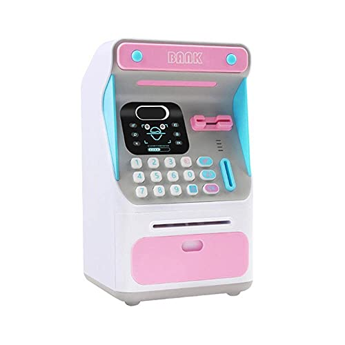 Porcellino salvadanaio Regalo Electronic Piggy Bank ATM PASSWORD Scatola di denaro Cash Saving Box Atm Bank Cassaforte Cassaforte ATM BankNote Festival Regalo per bambini WULOVEMI ( Color : Pink )