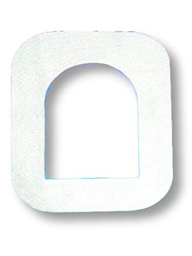 FixTape ademend bevestigings-tape voor OmniPod I Zelfklevende patch met gat voor insuline pomp zonder slang I bijzonder huidvriendelijk en watervast in moderne designs I 7 stuks (Witte)