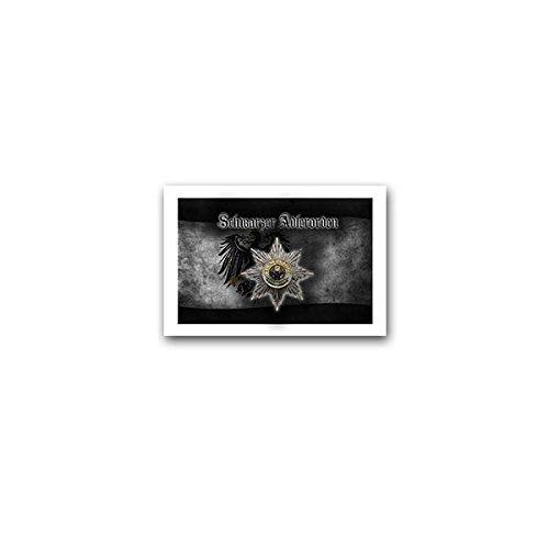 Copytec Aufkleber/Sticker -Schwarzer Adlerorden Hohe Orden Preußische Orden Preußen Auszeichnung Verdienst Deutsches Kaiserreich Abzeichen 10x7cm #A3242