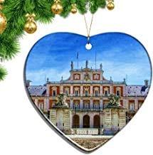 Kysd43Mill - Adornos navideños con Forma de corazón de Aranjuez, Hoja de cerámica, Recuerdo de Viaje, Regalo para árbol de Navidad