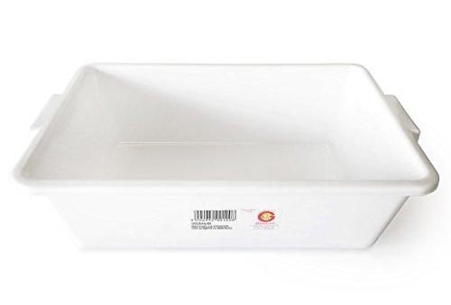 Vaschetta della Giganplast idonea per trasportare o esporre alimenti. Modello Frigor misure 34x24 h.10 cod. 560M4/BI Colore bianco