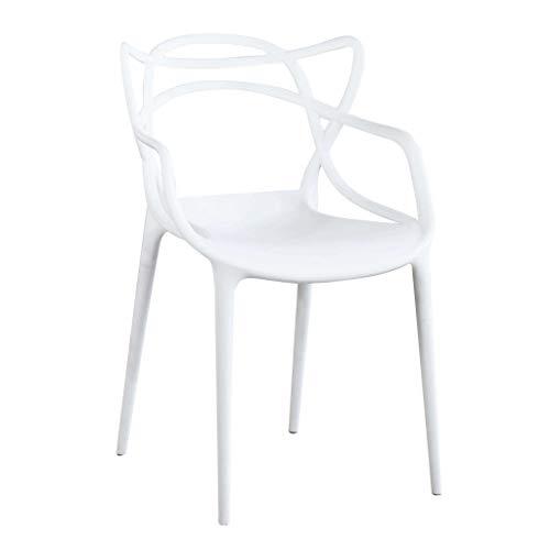 Milani Home s.r.l.s. Sedia in Polipropilene Plastica Bianca di Alta qualità di Design per Interno E Giardino Stile Moderno per Sala da Pranzo, Cucina