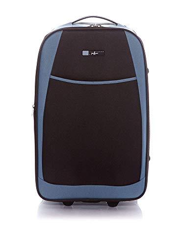 JOHN TRAVEL Trolley semirrígido Tallín Gris/Azul 64 cm