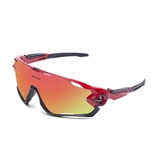 Gafas de Sol Deportivas para Ciclismo, Protección UV400 y Montura De TR-90,...