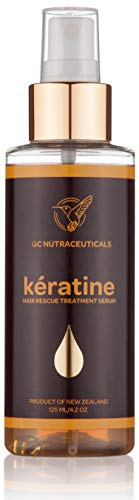 Keratin Hair Treatment by GC Nutrax – 4.2Oz Oxidized Keratine Serum Spray for All Hair Types–Restores Damaged Hair-Weather, Pool, Sea protection – New Zealand Wool Extract for Health and Beauty