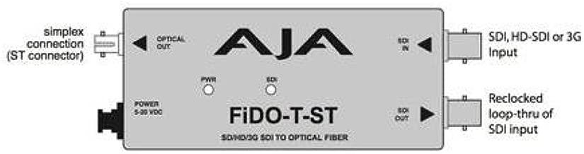 AJA FiDO-T-ST Single Channel Optical Fiber SDI to ST Fiber Converter with Looping SDI Output