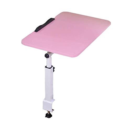 LYATW Folding Schreibtisch Retractable Tisch, Wirtschaftlich Flip, Schreiben, Komfortabler Klappbett als Tabelle (Color : Pink)