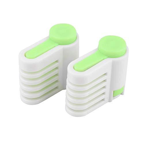Verde 2Pcs / Pack 5 Capas Ajustable DIY Cake Slicer Pan Leveler Cutter Fixator Guide Cake Cutter Niveler Slicer Cutting Fixator (Verde)