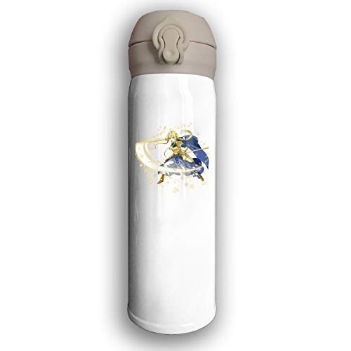 Seynorio Vacuum Insulated Stainless Steel Stainless Steel Water Bottle Sword Art Online Yuuki Asuna Fashion Travel Tumbler For Hot/Cold Drink Coffee Or Tea White