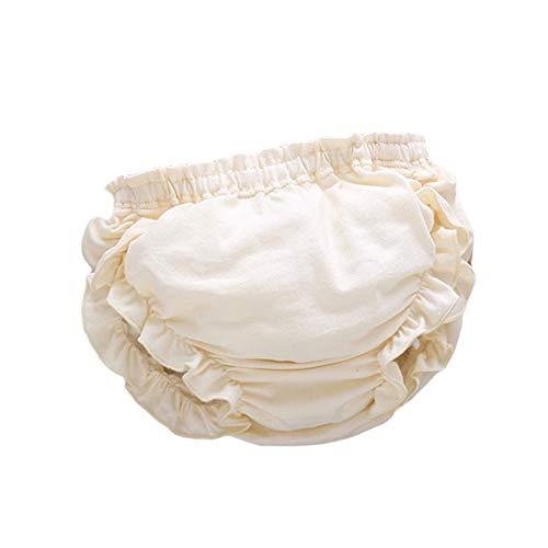 H87yC4ra Bebé Ropa Interior Niña Niño Bebé Unisex Niños Niños Algodón Transpirable Volantes Bloomers Cubre Pañales Cortos