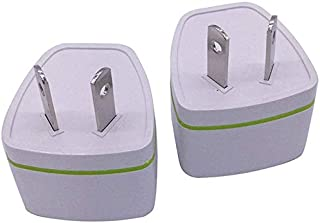 [ 2 PCS ] Universal Travel Power Plug Adapter AU Australian to USA EU Euro UK Slim 2Pin
