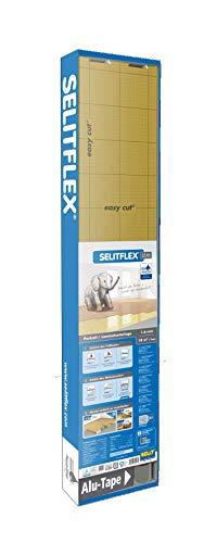 SELITFLEX 1,6 mm AquaStop - Verlegeunterlage für Parkett und Laminat mit Feuchteschutz (18 m² + Tape)