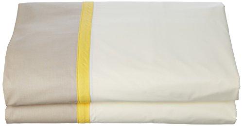 ESSIX Drap de lit, Coton, Lin/Paille, 180x290 cm