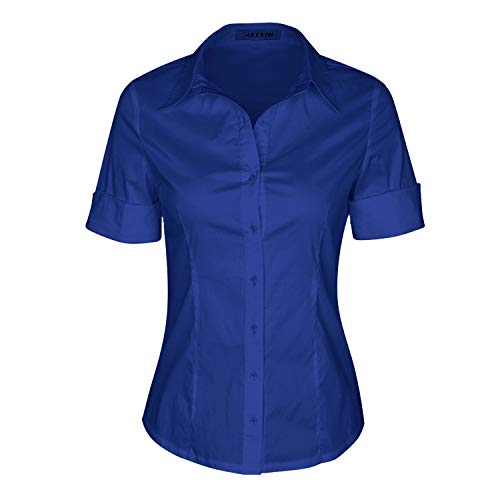 Neineiwu Womens Loose Blouse Long Sleeve T Shirts Twist Knot Casual Tops (XX-Large, Navy Blue)