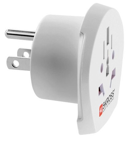 Adaptador de Corriente SCHUKO Conector universal/Estados Unidos, de 2y 3pines, color blanco, SKROSS®