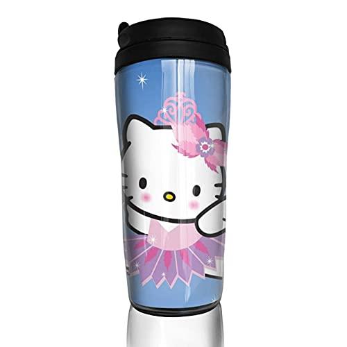 Hello-Kitty Leichte Kaffeetasse Wiederverwendbare Thermobecher Thermobecher für heiße kalte heiße Getränke Tee und Bier