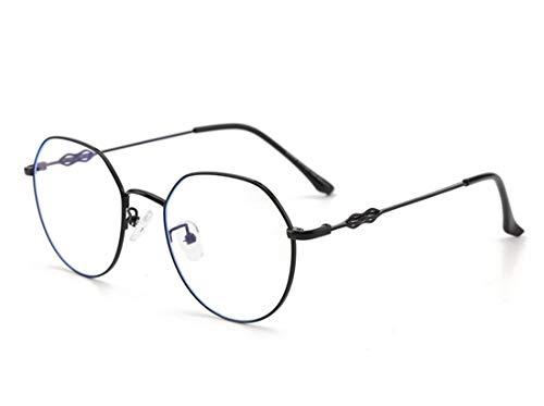 DAUCO Moda Gafas Luz Azul para Mujer Hombre Redondo Gafas Filtro Antifatiga Anti-luz Azul y contra UV400 Ordenador Gaming PC de Gafas