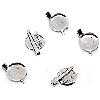 20mm 30pcs Extra Large Dual Brooch Pin Back Base /& Hair Clip DIY Jewelry Findings