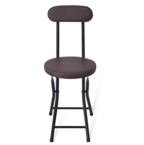 SLTO work stool simple folding small back office stool, dining chair, round small seat fishing Work chair, kitchen, outdoor garden-coffee