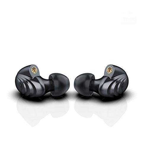 FiiO F9 PRO Best Over The Ear Headphones/Earphones/Earbuds Detachable Cable Design Triple Driver Hybrid (1 Dynamic + 2 Knowles BA) in-Ear Monitors with Android Compatible Mic and Remote (Titanium) ...