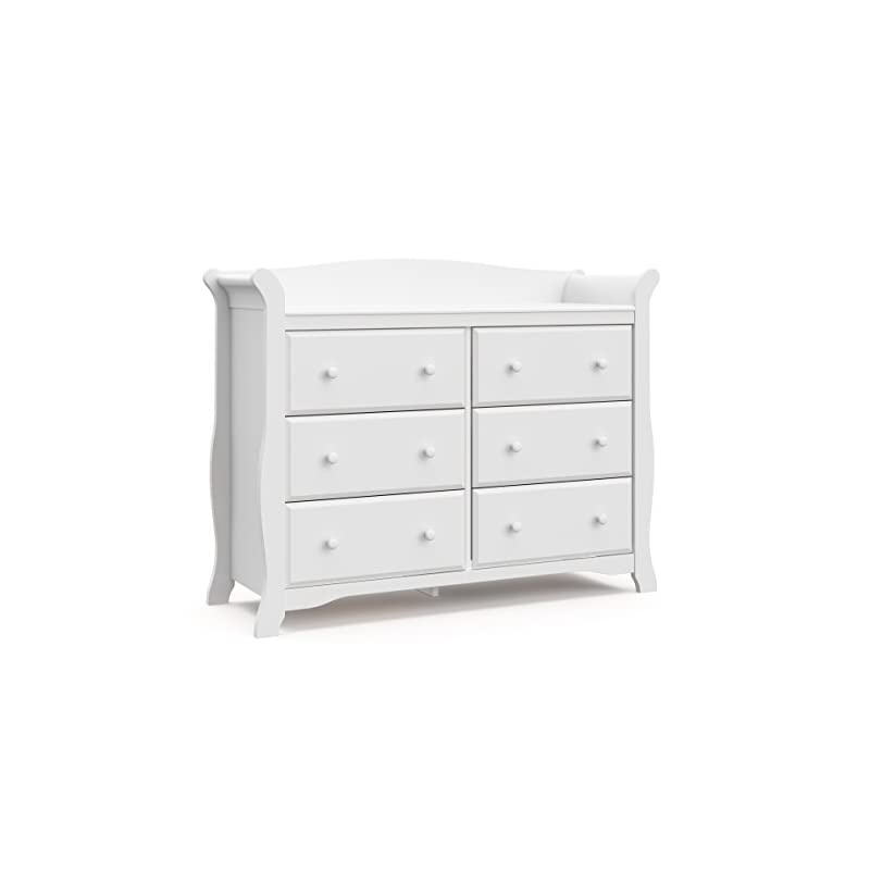 crib bedding and baby bedding storkcraft avalon 6 drawer universal dresser | ideal for nursery, toddlers and kids rooms | white