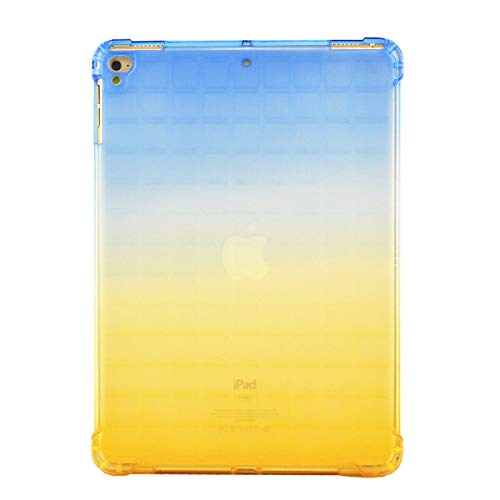 HHF Tab Accessories For IPad 9.7 2017 2018 Air 1 2 Pro 9.7, Slim TPU Cases Clear Silicone Bright Colors Back Cover For Ipad 9.7 A1893 (Color : Blue yellow)