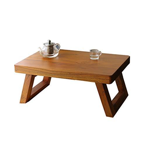 Tables Basse Moderne Simple Tatami Basse Basse en Bois Salon Basse Baie Vitrée Bureau D'ordinateur Chambre Basses (Color : Brown, Size : 60 * 40 * 28cm)