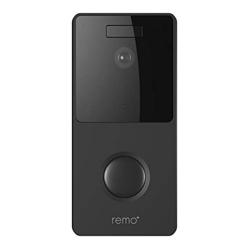 RemoBell WiFi Video Doorbell (Battery Powered, Night Vision, 2-Way Audio, HD Video, Motion Sensor) (Black)