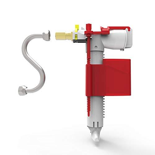Sanit Universal Füllventil 510 multiflow (mit Z-Rohr, Füllleistung 3,6 l/min, Anschlussstutzen Messing) 25.001.00.S000, grau