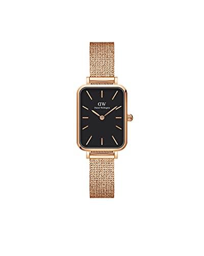 Daniel Wellington Reloj Quadro Melrose, Pulsera de malla de oro rosa, 20x26mm