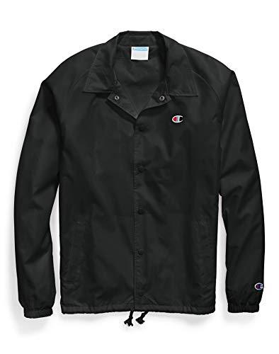 Champion Life Herren Coaches Jacket West Breaker Edition Jacke zum Aufwärmen oder Laufen, schwarz, XX-Large