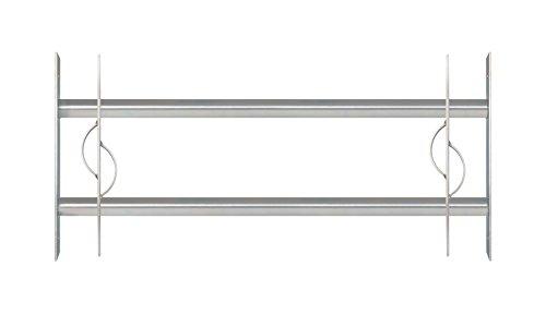 GAH-Alberts 563592 Fenstergitter Secorino Style - Einbruchschutz Gitter ausziehbar für Fenster außen - galvanisch blau verzinkt - 300 x 700-1050 mm