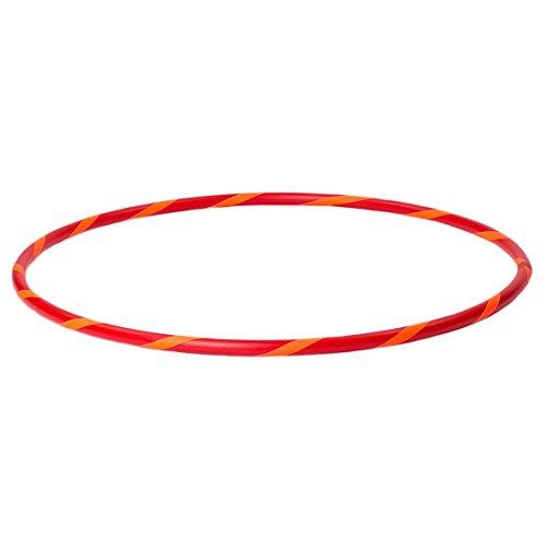 Bunter Kinder Hula Hoop für kleine Profis, Ø60cm, Rot-Orange