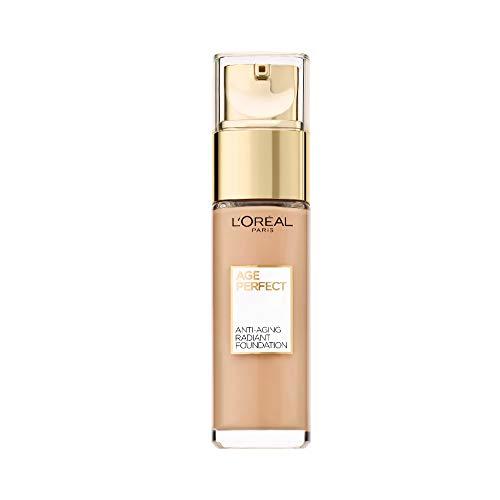 L'Oréal Paris Make up für reife Haut, Flüssige Foundation mit LSF 17, Für einen strahlenden Teint, Feuchtigkeitsspendend, Age Perfect Make-Up, Nr. 150 Beige Creme, 1 x 30ml
