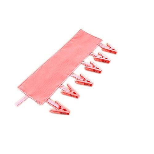 caolator Kleidung tragbar faltbar Reise-Kleiderbügel Multifunktions Kleiderbügel mit 6Clips, für Badezimmer, Reise-Kleidung Clip